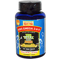 Рыбий жир для детей Омега 3 6 9   Health From The Sun  90 конфет