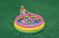 Бассейн детский надувной Intex 56441 Веселые колечки