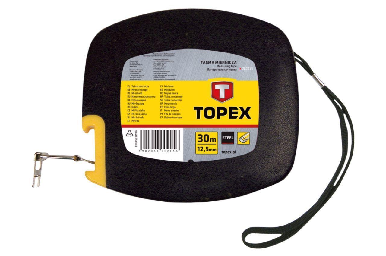 Рулетка Topex - 30 м х 12,5 мм, бобина, металлическая