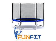 Батут FunFit 374см c сеткой + лестница