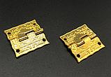 Петля для шкатулок декоративна золото 25х24 мм 270º універсальна, фото 2