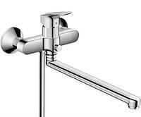 Hansgrohe Logis Смеситель для ванны с длинным изливом, хром