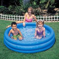 Бассейн детский надувной intex 58446 Голубая лагуна