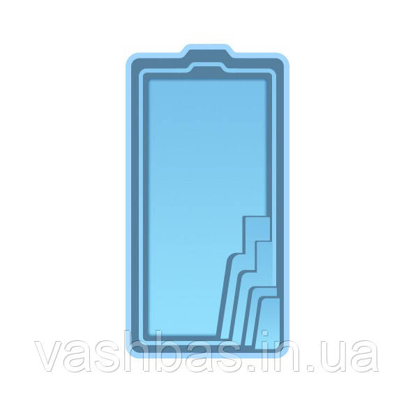 Стационарный стекловолоконный усиленный бассейн 6,20х3,00х1,50м