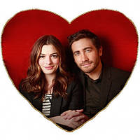 Подушка-сердце с Вашей фотографией большая, Подушка серце з Вашою фотографією велика, Именные подарки