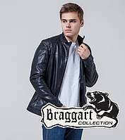 Куртка мужская кожзам синяя Braggart 4834A