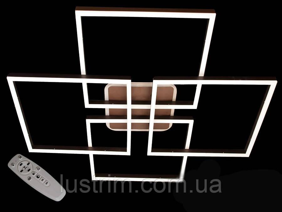 Потолочная LED-люстра с диммером и подсветкой, 175W