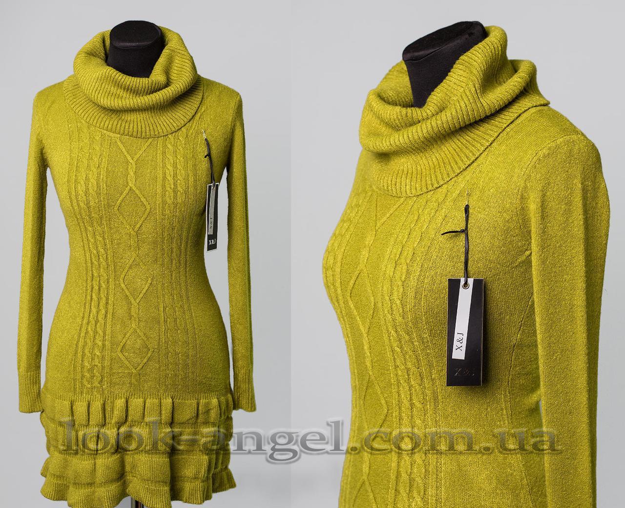 """Мягкий женский свитер """"кашемир"""" 50/52 размер"""