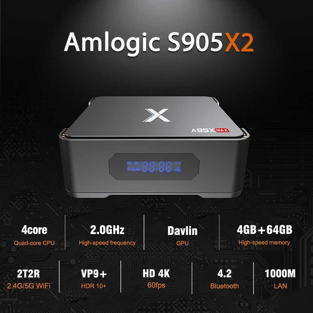 ТВ приставки и медиаплееры Android TV box A95X Max 4 64 black RJ-45 Wi-Fi Bluetooth Ethernet UltraHD Google Smart Доступ в интернет Возможность записи (рекордер)