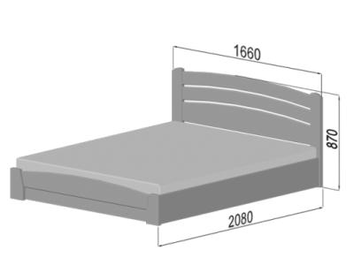 Розміри ліжка Селена Аурі (Бук) з ПМ