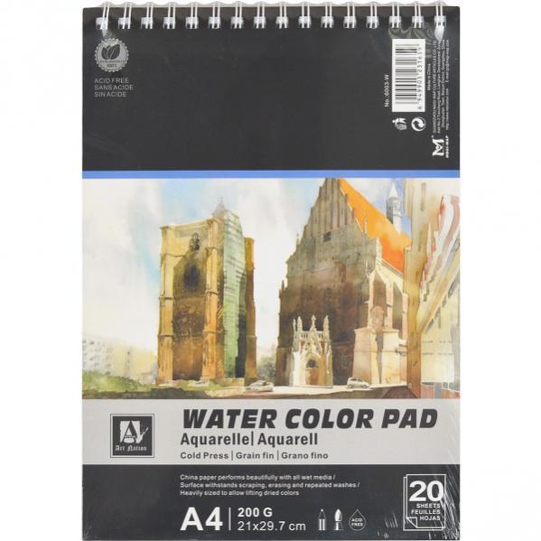 Альбом для акварели «Water Color Pad» 20 листов, 200 г/м²