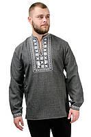 Мужская сорочка-вышиванка Орнамент - темно-серый, фото 1