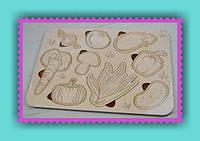 Развитие Вашего чада пазл-раскраска Овощи