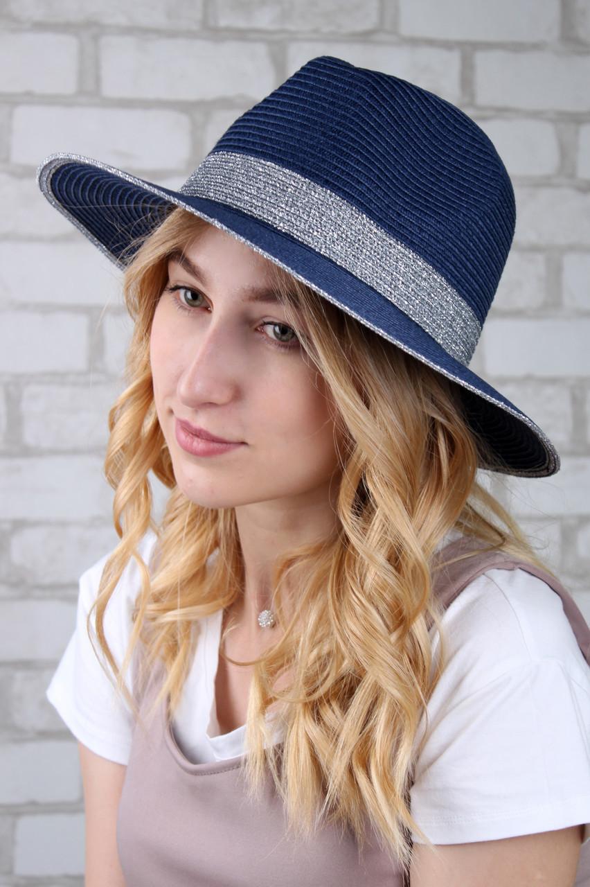 Челентанка Famo Шляпа федора Мауи синяя - 137228