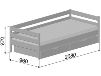 розміри одномісного дитячого ліжка Нота плюс