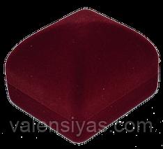Футляр для серьг или кольца квадратный - бордовый