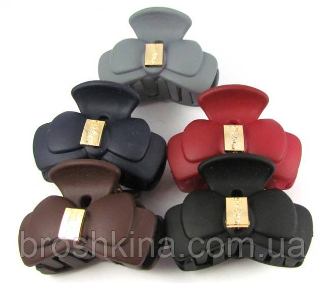 951f0719d60e Каучуковый крабик для волос серый 4,5 см