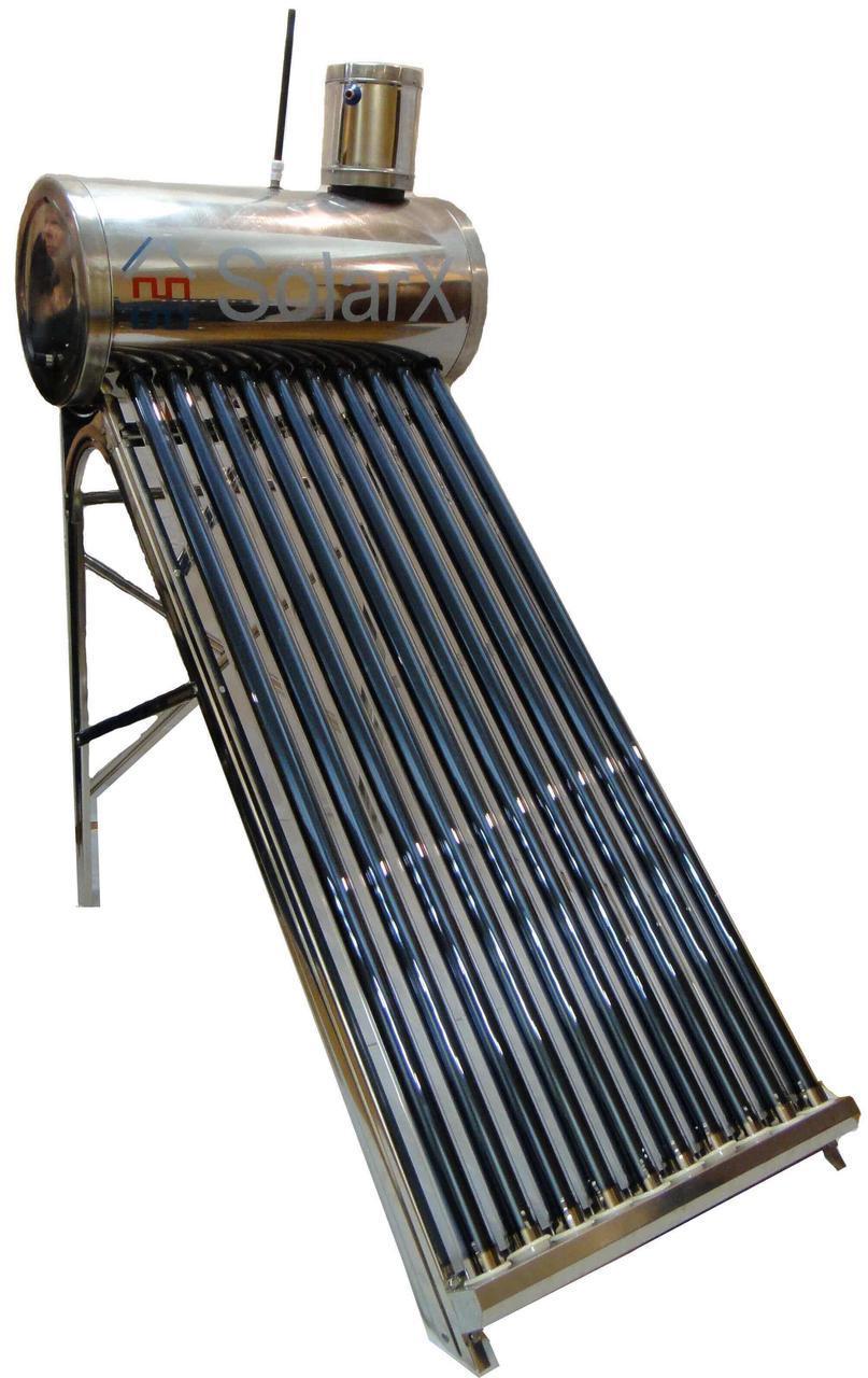 Термосифонный солнечный коллектор SolarX SXQP-250L-25 напорный водонагреватель