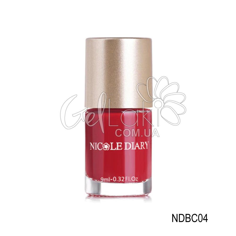 "Лак-краска для стемпинга ""Nicole Diary"" NDBC04, (вишневый), 9 мл"