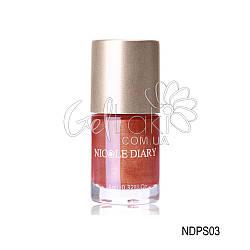 "Лак-краска для стемпинга ""Nicole Diary"" NDPS03, (красно коричневый с шимером), 9 мл"