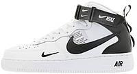 "Мужские кроссовки Nike Air Force 1 Mid 07 LV8 Utility ""White"" 804609-103 высокие Найк Аир Форс белые"