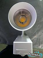 Светодиодный трековый светильник 12W, 4000 К, LED. Трековый LED светильник., фото 1