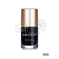"""Лак-краска для стемпинга """"Nicole Diary"""" NS02, (черный), 9 мл"""