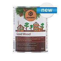 Водный антисептик на масляной основе GOOD WOOD для срубов, бревенчатых деревянных фасадов. 0.9л.