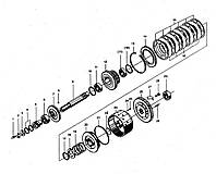 Узел среднего вала КПП BS428 ZL30 на погрузчик FL936F LW300F ZL30G ML333R ZL20 XZ636 CDM833 CDM843