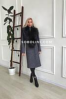 Пальто «Vanessa» с большим воротником из чернобурки, фото 1