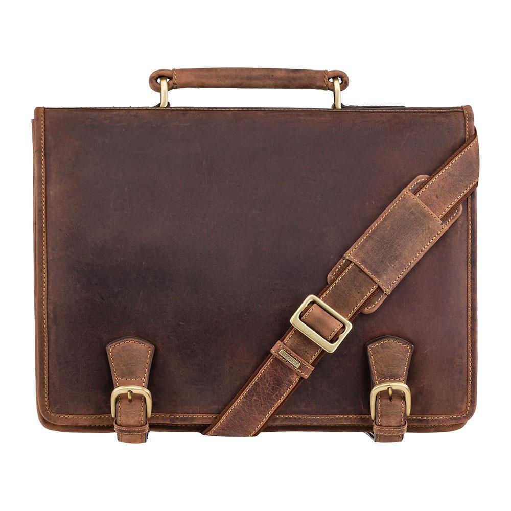 Кожаный мужской портфель Visconti 16134XL Oil tan (Великобритания)