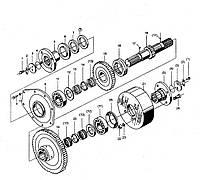 Узел выходного вала КПП BS428 ZL30 на погрузчик FL936F LW300F ZL30G ML333R ZL20 XZ636 CDM833 CDM843