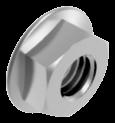 Гайка М16 с фланцем шестигранная метрическая, сталь, кл. пр. 8, ЦБ (DIN 6923)