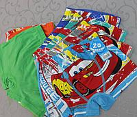Детские трусики-боксёры шортиками на мальчика Тачки - 3 размер L на 7-9 лет, фото 1