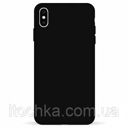 Чехол Pump Silicone Case for iPhone XS Max Black