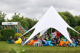 Тент Звезда, 10 м, белый, (шести лучевой) Шатры Киев,  Доставка по Украине бесплатно