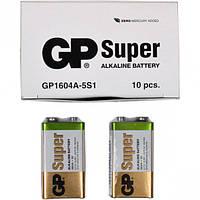 Батарейка GP 1604 A-5 UE1 щелочная 9В 6 LF22,6 LR61 Alkaline Super (крона)    GP-002311