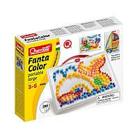 Детская мозаика Переносная доска с фишками 280 шт Quercetti 0950-Q