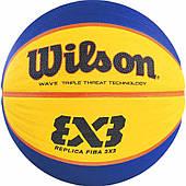 Мяч баскетбольный Wilson Fiba 3x3 replica ball размер 6 резиновый для стритбола 3х3 (WTB1033XB)