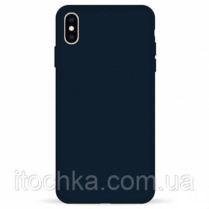 Чехол Pump Silicone Case for iPhone XS Max Blue