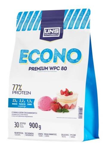 Сывороточный протеин UNS - ECONO Premium WPC 80 (900 грамм) малиновое мороженое
