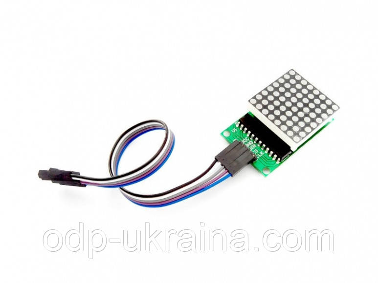 Матрица 64 красных светодиода 8х8 на 5 контакта MAX7219