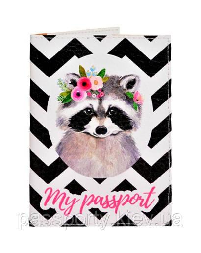 Обложка на паспорт Енот