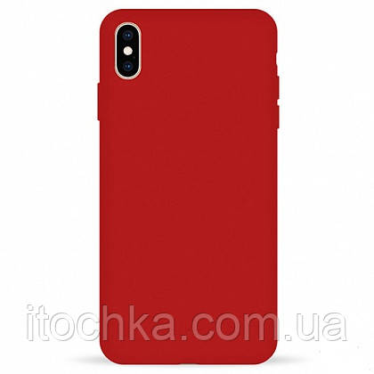Чехол Pump Silicone Case for iPhone X/Xx  Red