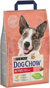 Сухой корм Dog Chow Active для активных и рабочих собак с курицей, 2,5 кг