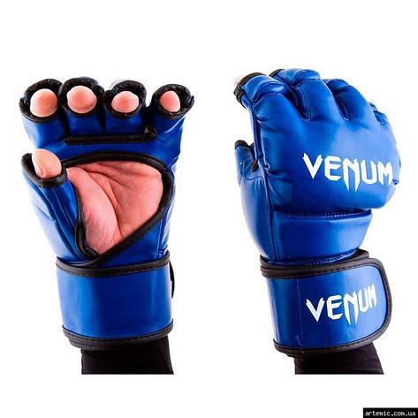 Перчатки Venum MMA, 364 Flex, S,M,L,XL, синий, фото 2