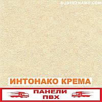 Панель пластиковая (ПВХ) Интонако Крема (ламинированная) Decomax, 250х2700х8 мм.