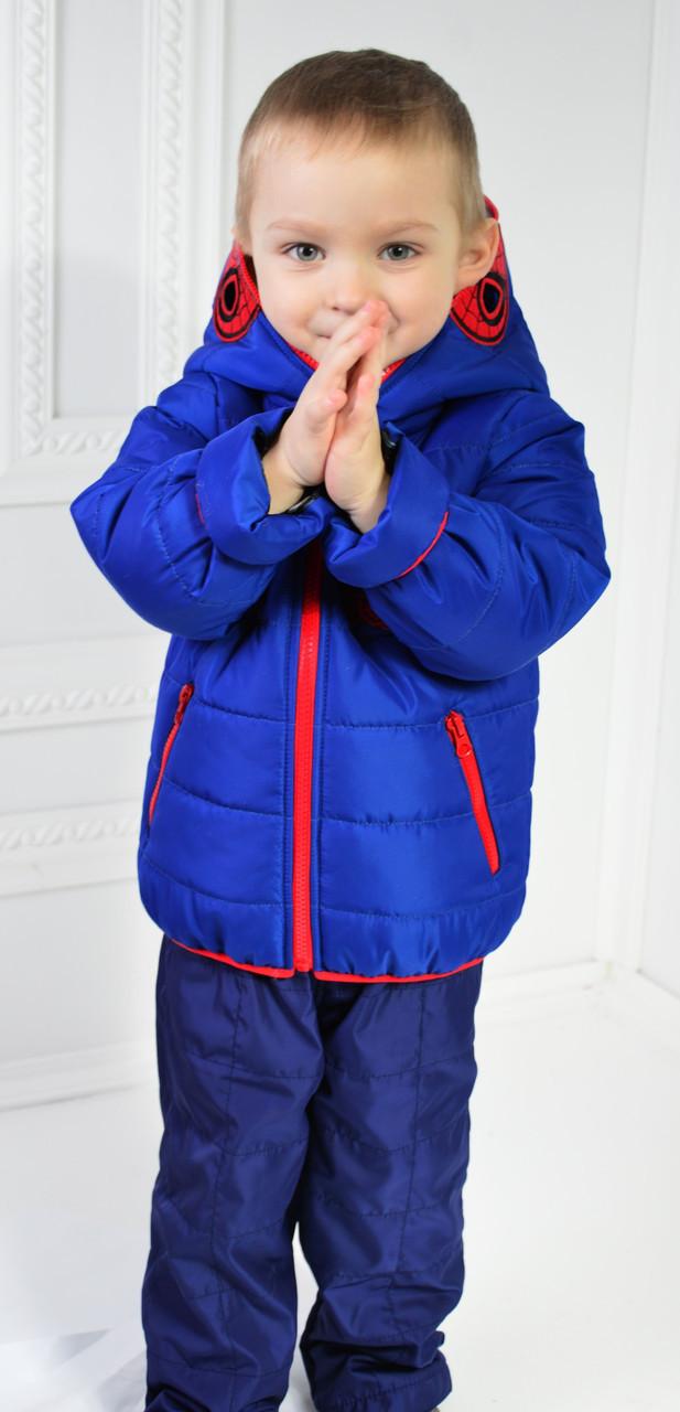 """Тёплый демисезонный  костюм для мальчика   """"Человек паук"""""""