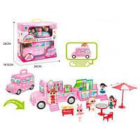 Домик Большой Автобус лол (lol) для Кукла Л.О.Л (L.O.L surprise), кукла лол 3шт, мебель, копия