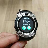 Smart Watch V8 умные смарт часы телефон с громкой связью серебро, фото 1
